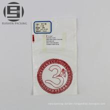 White LDPE flat bottom bag with printing