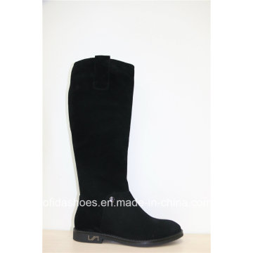 Fashion Designs Comfort Flat Leather Lady Boots