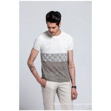 Vente en gros T-shirt en jersey tricoté d'été