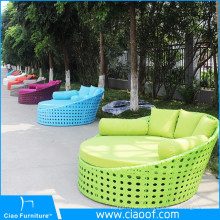 Outdoor Garden Rattan Lounge Bed For Sale