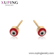 95043 xuping мода золото дизайн злые легкий вес глаз серьги ювелирные изделия в дешевых расходов Китая оптом