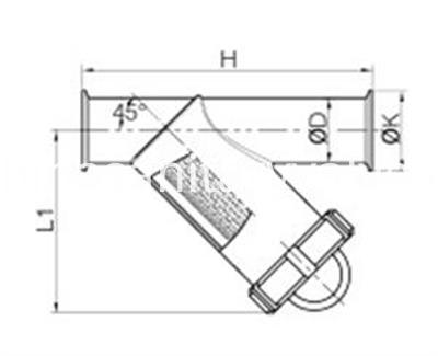 sanitary clamped Y-type strainer