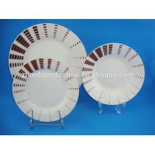 Modernos diseños de forma redonda de porcelana de cerámica fina de China conjuntos de vajilla