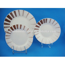 Modèles modernes, forme ronde, fin, porcelaine, porcelaine, ustensiles