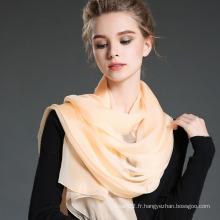 Echarpe en soie soie anti-UV 100% en été