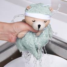 Toalha de mão de urso criativo pano de cozinha pendurado