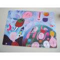 Paint Graffiti Printing Plastic PP Placemat & Coasters