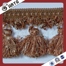 Curtain Cheap Brush Fringe Trim of Pompom Shape, Used for Drapes, Curtain Accessories and Home and Decor, Made in China