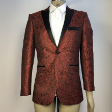 men suits wedding business dark red party blazer