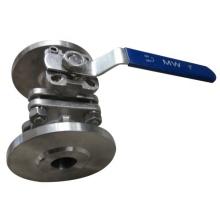 Válvula de bola industrial con brida de acero inoxidable 3 piezas