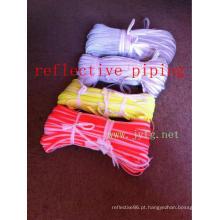 Oi vis tubulação reflexiva de segurança para roupas de cor