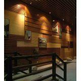 Wood Plastic Composite Ceiling , Wpc Indoor Wall Decoration Paper Diy 3d
