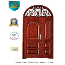European Style Picture Security Door with Iron (B-9012)