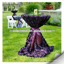 Factory Supply High Quality New Design Rosette Table Cloth for Wedding