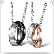 Casal pingente de aço inoxidável jóia colar de moda (nk511)