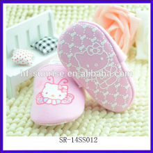 SR-14SS012 fashion new pink baby shoes cute flat newborn baby shoes cloth cartoon infant shoes
