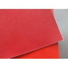Tela de fibra de vidrio con caucho de silicona