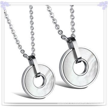Collier pendentif en acier inoxydable à bijoux fantaisie (NK209)