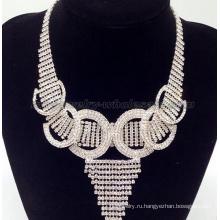 Модные стопорное кольцо стеклянные бусы ожерелье