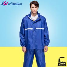 Мотор двойной слой дождь водонепроницаемая куртка с брюки полиэстера Euorpean качества