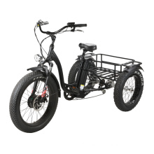 2020 New Fat Tire Electric Tricycle 48V500W Lithium Battery Samung 48V13ah