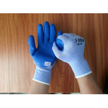 whole sale factory sell blue foam latex working safety gloves for sale