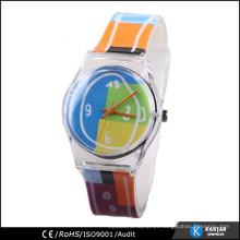 Relógio de quartzo japão de cor multi-cores para crianças