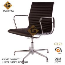 Venda quente couro preto conferência cadeira de escritório giratória (GV-EA108)