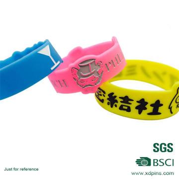Pulseiras com relevo / pulseiras de silicone baratas para lembrança