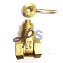 Válvula de puerta de cobre amarillo bloqueable magnética forjada Válvula de compuerta de cobre amarillo magnética forjada (HG25) Especificación: