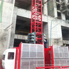 Temporary Elevators with 2 Ton Capacity Per Cage for Sale by Hsjj