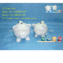 Ceramic DIY Painting Money Box For BS130401A