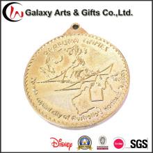 Benutzerdefinierte Münzen Medaille mit Metal Plating Gold Messing poliertes
