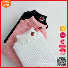 Alta ropa de invierno de lana de invierno tejida a medida de cuello alto personalizada