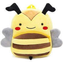 Плюшевый рюкзак с изображением пчелы и мультяшными животными 3D