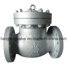 Válvula de retenção de extremidade de flange ANSI de 300 lb com aço carbono