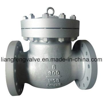 Válvula de retención de balance de extremo de brida ANSI de 300 lb con acero al carbono