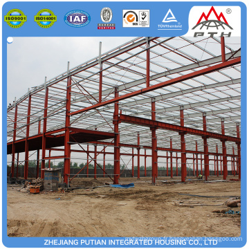 Façade à bas prix préfabriquée en acier léger structure cadre maison