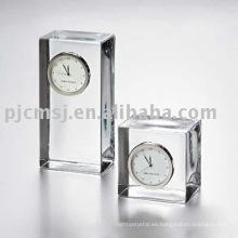 2015 cubo en forma de Reloj de Cristal reloj waterford crystal clockclock K9 crystal horologe