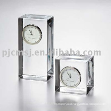 2015 cube shaped Crystal Table Clock waterford crystal clockclock K9 crystal horologe