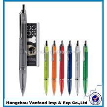 moins chers stylos bannière promotionnelle de pince métallique avec petit MOQ
