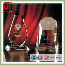 Diseño de los deportes de oro en blanco Crystal Trophy (JD-CT-406)