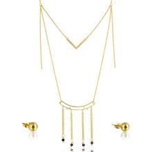 Mode Frauen Zubehör Quaste Halskette Schmuck-Set