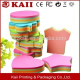 manufacturing and selling shaped sticky note many years, custom size and pages shaped sticky note for company promotion