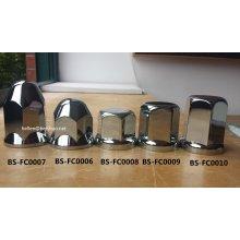 33mm / 32mm LKW / Anhänger Chrom Kunststoff Lug Nut Covers