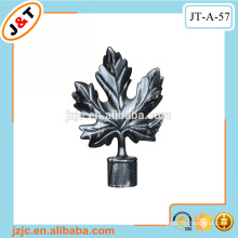 retractable curtain rod accessories painting leaf design finial