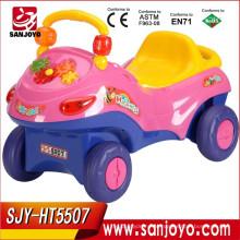 Rc carro de quatro rodas motrizes, crianças R / C passeio em crianças de brinquedo para dirigir carro Carro de crianças de alta qualidade com luzes led HT-5507