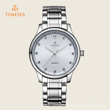 Relógio de cristal impermeável do relógio do esporte dos homens com a faixa de aço inoxidável 72357
