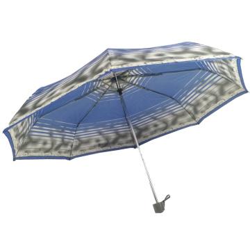 guarda-chuva promocional com suporte de metal personalizado para quebra-vento 3 dobrável