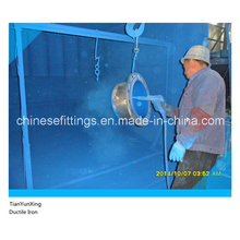 Epoxy Coating Gg50 Ductile Iron Flange Spigot